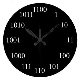 Het Systeem van het Binaire getal van Geeky Ronde Klok Large