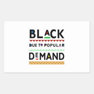 Het t-shirt van Afrocentric Rechthoekige Sticker