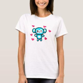 Het t-shirt van de aapvrouwen van Kawaii