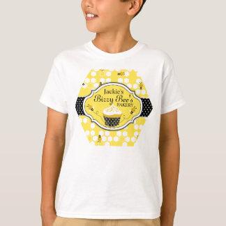 Het T-shirt van de Bakkerij van Cupcake van de Bij