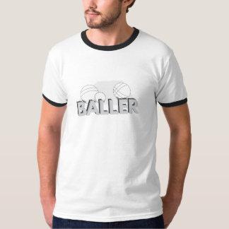 """Het T-shirt van de Bel van """"Baller"""" van Bocce"""