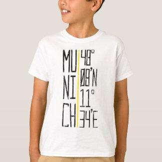 Het T-shirt van de Coördinaten van München van