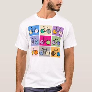 Het T-shirt van de Fiets van de Kunst van Mondrian