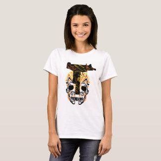 Het T-shirt van de Vrouw van de Schedel n Uzi van