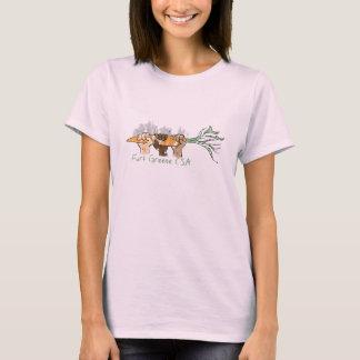 Het T-shirt van het Baby van vrouwen - de Zoute