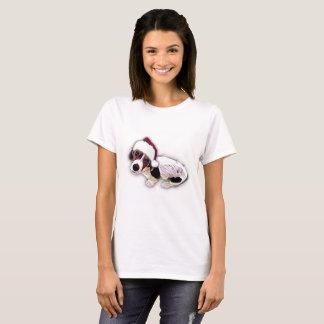 Het T-shirt van Kerstmis van Basset Hound