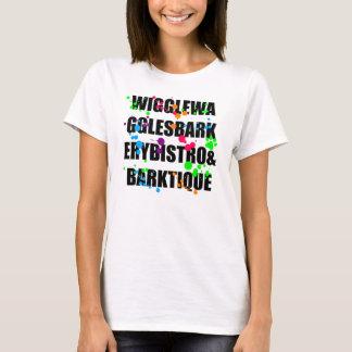 Het T-shirt van Splat van de Zwarte & van de Kleur