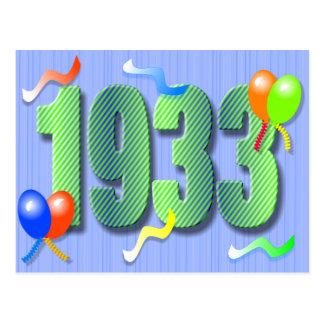 Het tachtigste Briefkaart van de Verjaardag 1933