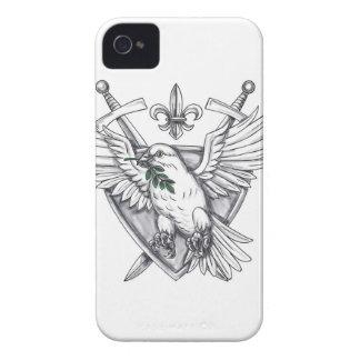 Het Tattoo van CREST van het Zwaard van het Blad iPhone 4 Hoesje