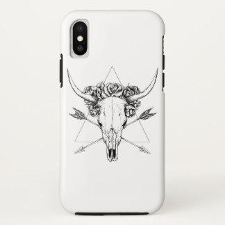 Het Tattoo van de Schedel van de stier iPhone X Hoesje