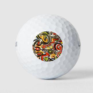 Het te voorschijn komen vlinder-Hand schilderde Golfballen