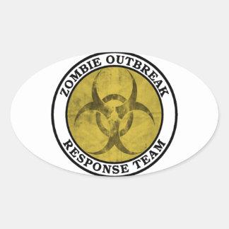 Het Team van de Reactie van de Uitbarsting van de Ovale Sticker