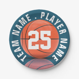 Het Team van het basketbal Papieren Bordjes