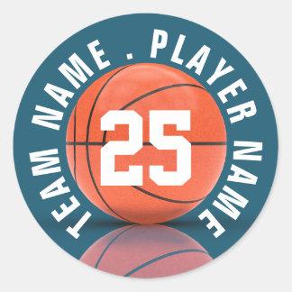 Het Team van het Basketbal van de douane Ronde Sticker