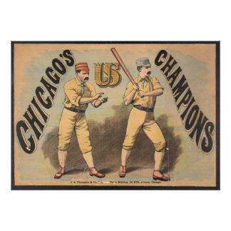 Het Team van het Honkbal van Chicago Foto Afdruk