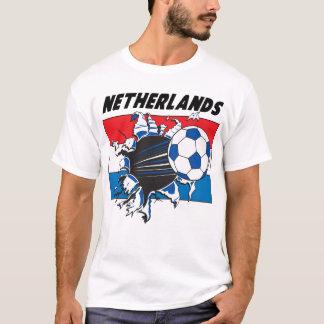 Het Team van het Voetbal van Nederland Futbol T Shirt