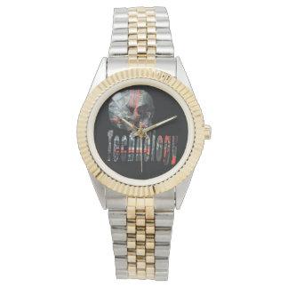 Het technologie op Gelete Logo van de Schedel, Horloge