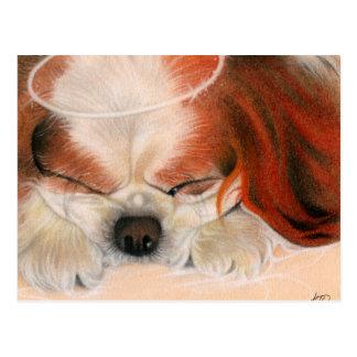 Het tedere Briefkaart van het Puppy van de Engel