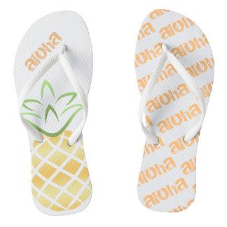 Het Teenslipper van de Ananas van Aloha, Sandals Teenslippers