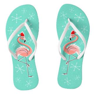 Het teenslipper van de Flamingo van Kerstmis Teenslippers