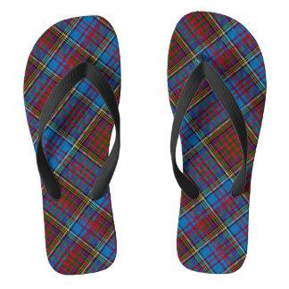 Het Teenslipper van het Geruite Schotse wollen Teenslippers