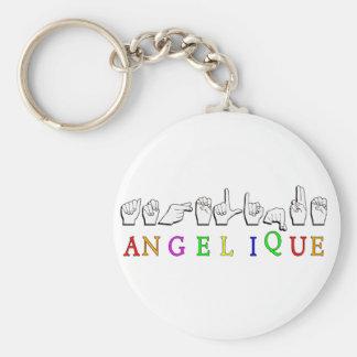 Het TEKEN FINGERSPELLED ASL van Angelique KEYCHAIN Sleutelhanger