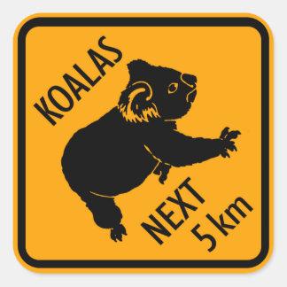 Het Teken van Australië van de koala (pak van Vierkante Sticker