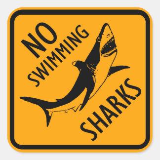 Het Teken van Australië van haaien (pak van 6/20) Vierkante Sticker