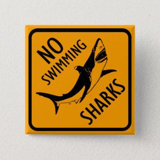Het Teken van Australië van haaien Vierkante Button 5,1 Cm