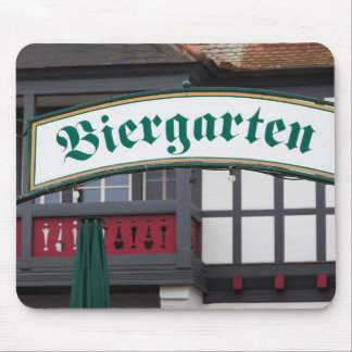 Het teken van Biergarten, Duitsland Muismat