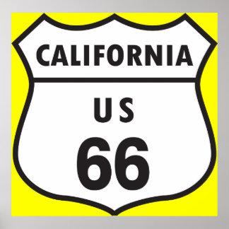 Het Teken van Californië de V.S. 66 Poster