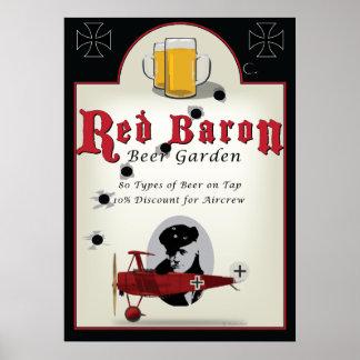 Het Teken van de bar, de Rode Tuin van het Bier Poster