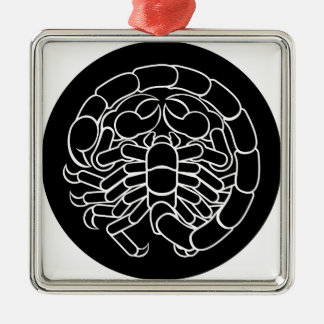 Het Teken van de Dierenriem van Schorpioen van de Zilverkleurig Vierkant Ornament