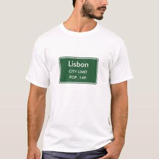 Het Teken van de Grens van de Stad van Lissabon T Shirt