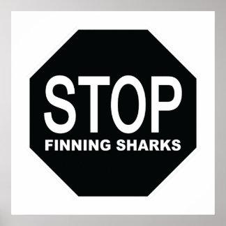 Het Teken van de Haaien van Finning van het einde Poster