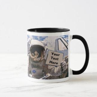 Het Teken van de Holding van de Astronaut van NASA Mok