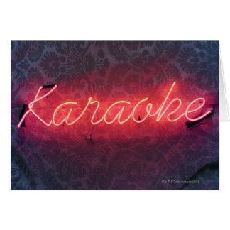 Het Teken van de karaoke Briefkaarten 0