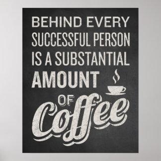 Het Teken van de koffie. Het Decor van de koffie. Poster