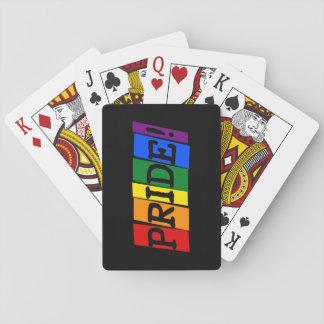 Het teken van de lgbt- trotstekst speelkaarten