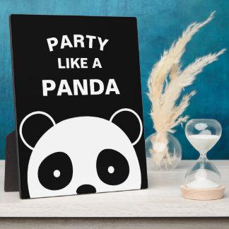 Het Teken van de panda, de Decoratie van de Panda Fotoplaat