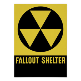 Het Teken van de Schuilplaats van de radioactieve Poster
