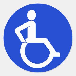 Het Teken van de Toegankelijkheid van de rolstoel Ronde Sticker