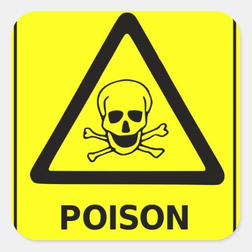 Het Teken van de Voorzichtigheid van het vergift Vierkante Sticker