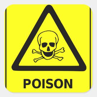 Het Teken van de Voorzichtigheid van het vergift Vierkant Sticker