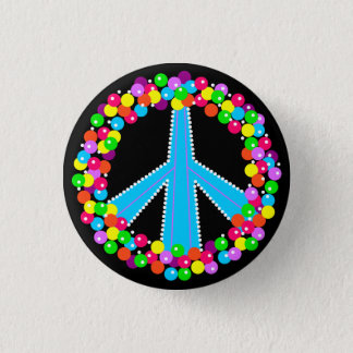 Het Teken van de vrede in Gumballs Ronde Button 3,2 Cm