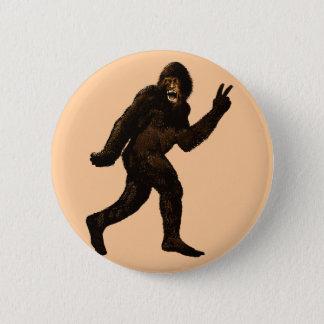 Het Teken van de Vrede van Bigfoot Ronde Button 5,7 Cm