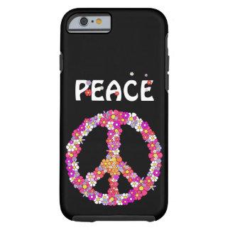 Het Teken van de Vrede van flower power Tough iPhone 6 Hoesje