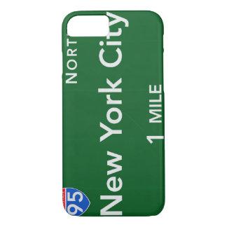 Het Teken van de Weg van de Stad van New York iPhone 8/7 Hoesje