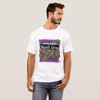 Het Teken van Gras van Mardi - paarse t-shirt