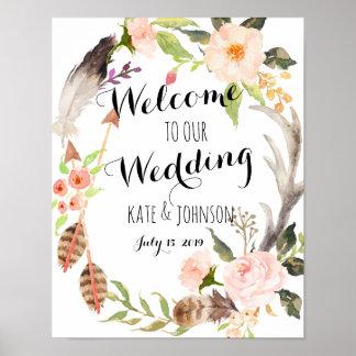 Het teken van het huwelijk, onthaal, douche, poster